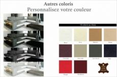 canapé d'angle en cuir italien 8 places bentley,couleur personnalisée