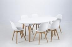table à manger design laqué blanc, berini