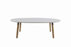 table basse best, plateau en bois blanc laqué