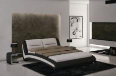 lit en cuir italien de luxe nighty, blanc / noir