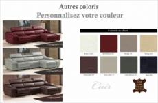 canapé d'angle cuir buffle italien bonito, couleur couleur personnalisée, angle droit
