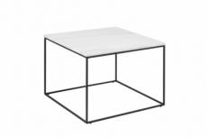 table basse bolton, marbre blanc