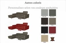 - canapé d'angle en cuir italien de luxe 5 places botero, avec relax électrique couleur personnalisée, angle gauche