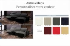 canapé d'angle relax de luxe 5 places brinda, couleur personnalisée, angle droit