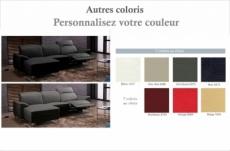 canapé d'angle relax de luxe 5 places brinda, couleur personnalisée, angle gauche