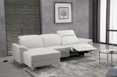 canapé d'angle relax de luxe 5 places brinda, blanc, angle gauche