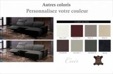 canapé d'angle relax en cuir de buffle italien de luxe 5 places brio, couleur personnalisée, angle droit