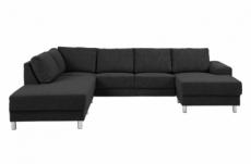 - canapé d'angle en tissu de qualité calvi, gris anthracite, angle gauche