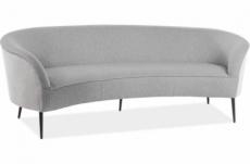 canapé 3 places en tissu de qualité elise, gris foncé