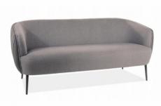 canapé 3 places en tissu de qualité lena, gris