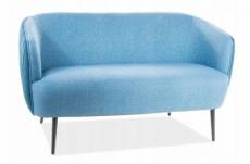 canapé 2 places en tissu de qualité lena, bleu