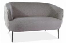 canapé 2 places en tissu de qualité lena, gris