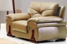 fauteuil une place en cuir luxe italien vachette, beige