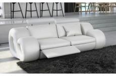 canapé 2 places en cuir supérieur luxe haut de gamme italien monrelax, blanc