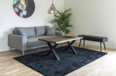 canapé 2,5 places en tissu de qualité lisa coloris gris clair