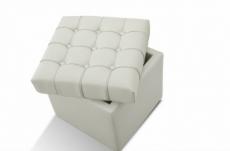 pouf-coffre de rangement de qualité supérieure capito, blanc
