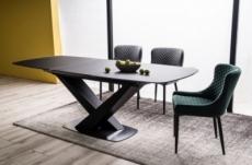 table à manger extensible casta i , couleur noire