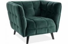 fauteuil 1 place casini en tissu de qualité, couleur vert