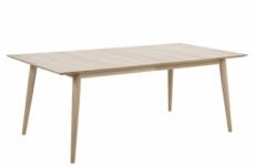 table à manger en chêne massif de qualité, centra (sans rallonge, en option)