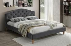 lit en tissu de qualité chania, gris, 160x200