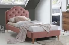 lit en tissu de qualité chania, rose, 90x200