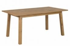 table à manger charaza, bois plaqué chêne sauvage, huilé (sans rallonge)