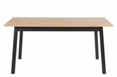 grande table à manger charlene, plaqué chêne sauvage, huilé