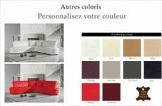 canapé d'angle en cuir italien 6 places cheston, couleur personnalisée