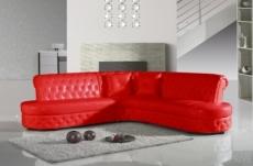 canapé d'angle en cuir italien 6 places cheston, rouge