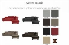canapé d'angle en 100% cuir de luxe italien convertible et avec coffre, 5/6 places citizen, couleur personnalisée, angle droit