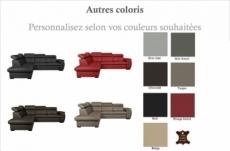 - canapé d'angle en 100% cuir de luxe italien , 5/6 places citibest, couleur personnalisée, angle gauche