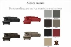 canapé d'angle en 100% cuir de luxe italien convertible et avec coffre, 5/6 places citizen, couleur personnalisée, angle gauche