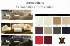 canapé modulable combino cuir prestige luxe, couleur personnalisée