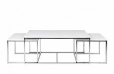ensemble de 3 tables basses contemporaines costa