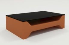table basse design cosy, marron