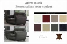 canapé 2 places en cuir italien buffle danemark, couleur personnalisée