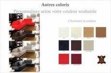 canapé d'angle divano en cuir italien vachette de qualité, couleur personnalisée