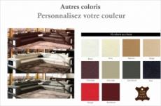 canapé d'angle en cuir italien 6/7 places divina, couleurs personnalisées