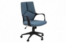 fauteuil de bureau confortable en tissu de qualité dublin, bleu