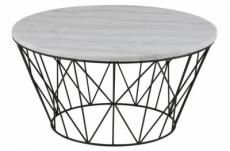 table basse dune, marbre blanc