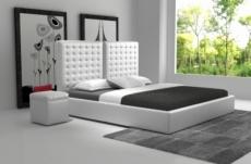 lit en cuir italien de luxe duo, blanc