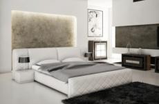lit en cuir italien de luxe elegance, blanc