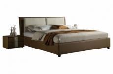 lit design en cuir et tissu de luxe eline, choisissez la couleur du cuir et du tissu, 160x200