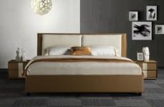 lit design en cuir et tissu de luxe eline, choisissez la couleur du cuir et du tissu, 140x200