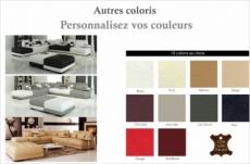 canapé d'angle en cuir italien 7/8 places elixir couleurs personnalisées