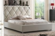 lit en cuir italien de luxe enjoy, blanc