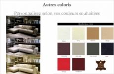- canapé d'angle en cuir italien 5 places enzo, couleur personnalisée, angle gauche