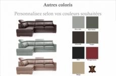 canapé d'angle convertible en 100% tout cuir italien de luxe 5 places ernest, personnalisé, angle gauche