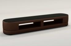 meuble tv design staro. très joli modèle aux lignes tendances chocolat