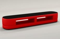 meuble tv design staro. très joli modèle aux lignes tendances rouge